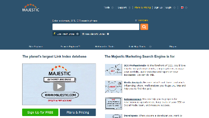 Majestic SEO tool for building backlinks
